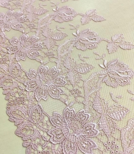 Old rose lace trim
