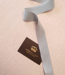 Light greyish blue grosgrain ribbon application