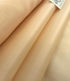 Peach silk satin fabric