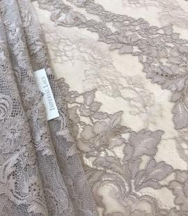 Dark ecru lace fabric