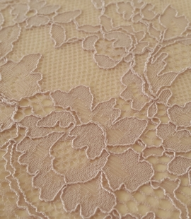 Caffe Latte Lace Trim