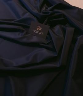 Navy blue viscose and elastane lining fabric