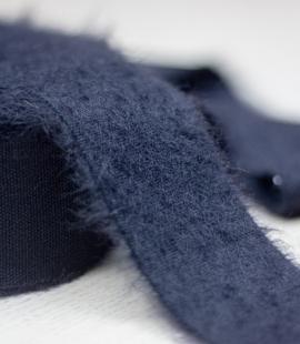 Black lana wool ribbon