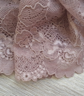 Dark powder lace trim