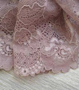 Dark nude elastic lingerie lace trim