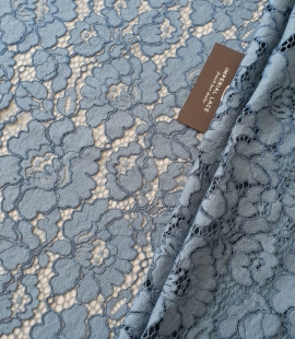 Bluish gray guipure lace fabric