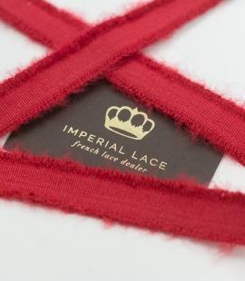 Red lana wool ribbon