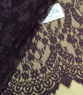 Dark brown lace fabric