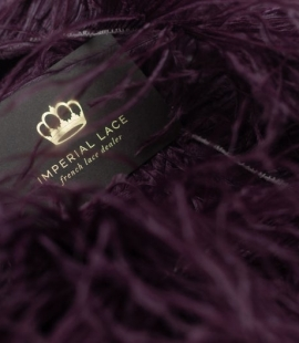 Wine color natural ostrich feather