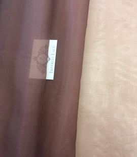 Dark brown Silk organza