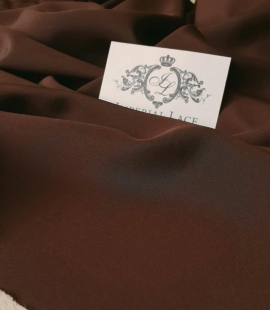 Chocolate brown silk crepe fabric