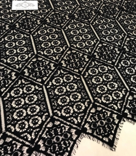 Black Lace fabric - French style
