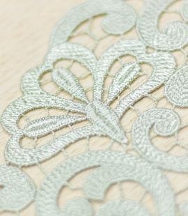 Olive green organic macrame lace trim