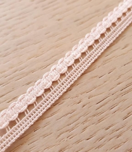 Baby pink macrame lace trimming