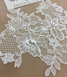 Ivory chanttilly lace motif