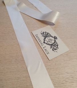 Ivory satin silk ribbon