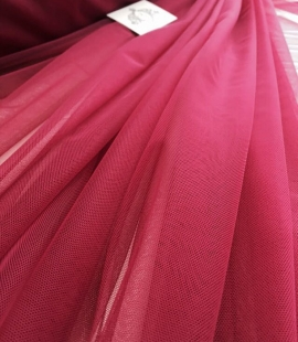 Raspberry red tulle fabric