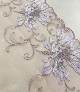Nude soft embroidery Lace Trim