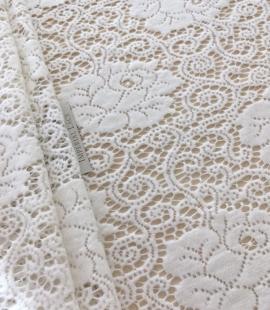 Ivory wool lace fabric