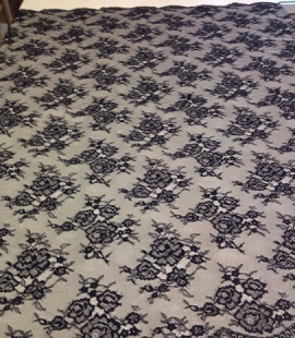 Lace fabric black color