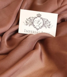 Brown silk chiffon fabric