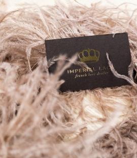 Light brown soft natural ostrich feather
