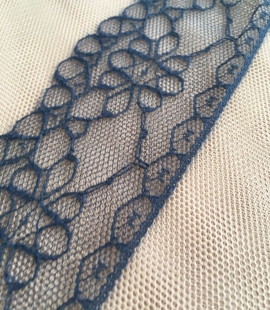 Dark Blue Lace Trim