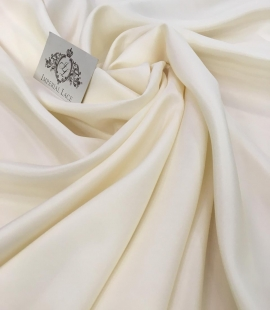 Cream silk lining fabric