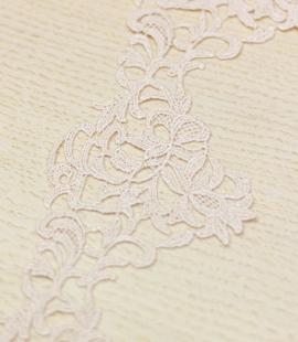 Nude organic pattern macrame lace trim