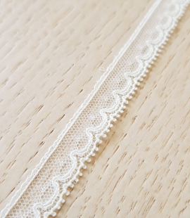 Ivory chantilly lace trimming