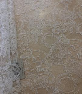 Offwhite macrame lace fabric