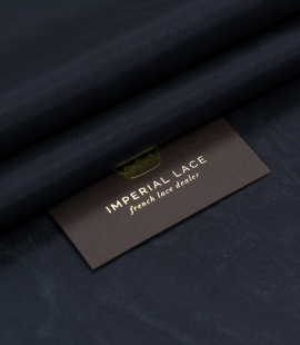 Black silk lining fabric