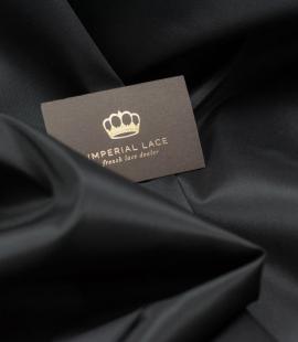 Black Brunello lining fabric