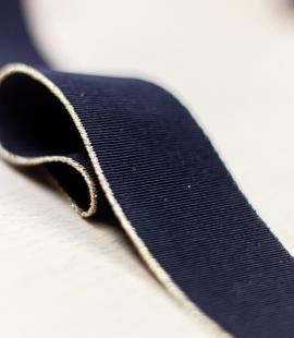 Black with gold edge elastic ribbon