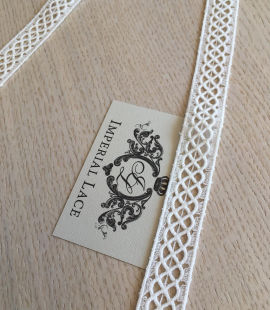 Ivory cotton lace trimming