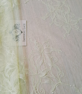 Light yellow lace fabric