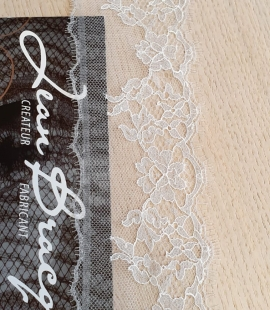 Light grey natural chantilly lace trimming by Jean Bracq