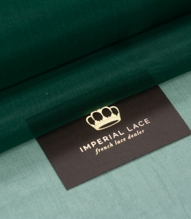 Emerald green silk or...