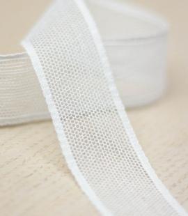 Off white mesh pattern lace trim