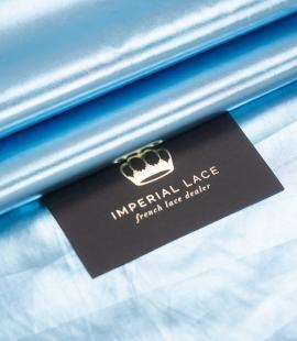 Blue color shiny rain coat fabric