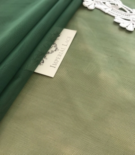 Green tulle fabric