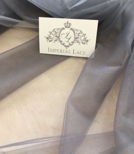 Grey tulle fabric
