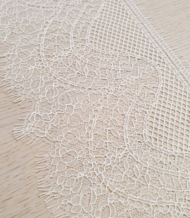 Ivory natural chantilly lace trimming by Jean Bracq