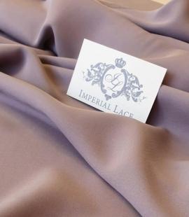 Lilac grey silk crepe with elastane fabric