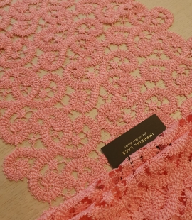 Pink guipure lace trimming