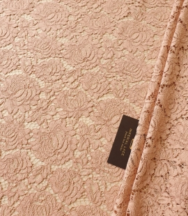 Nude guipure lace fabric