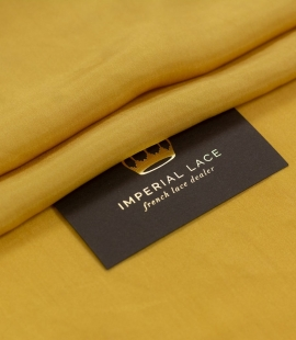 Mustard yellow silk l...