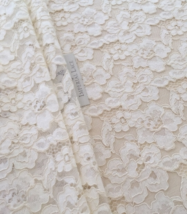 Ecru lace fabric