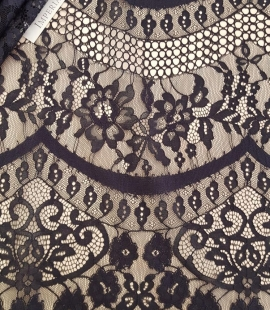 Black lace fabric, French Lace, Alencon Lace