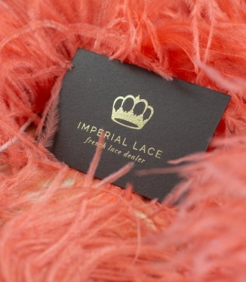 Coral orange soft ostrich feather